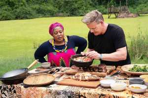 Chef Zola Nene with Gordon Ramsay in Gordon Ramsay Uncharted Season Two
