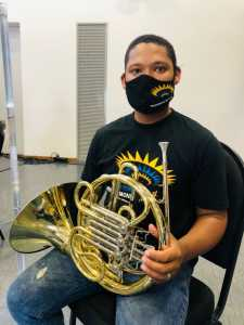 Shannon Thebus and his new horn!