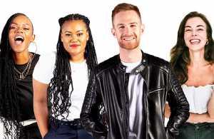 5FM Breakfast Team - Xoli Zondo, Mathapelo Moloi, Dan Corder and Marli van Eeden