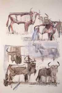 Sidney Goldblatt's Hartebeest artwork