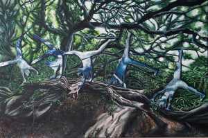 Laurette De Jager, Her land II oil on canvas