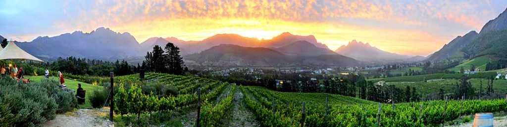 Franschhoek winelands scenery