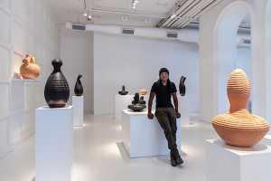 Madoda Fani iQweqwe carved ceramics. Picture: Greg Beadle