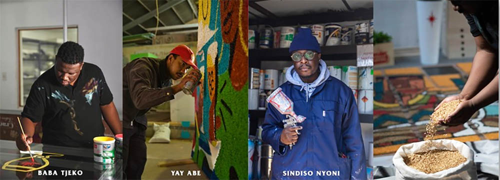 Pure Malt exhibition by Sindiso Nyoni, Yay Abe and Baba Tjeko